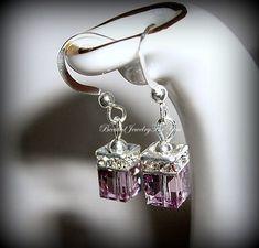 Wedding Earrings   Light Amethsyt Swarovski by beadedjewelryforyou, $18.99
