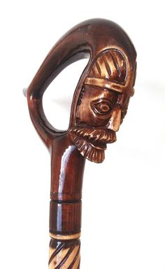 King wooden walking stick,  Knight wood walking cane, man handle carved cane, human cane, wooden carved walking stick, walking stick cane