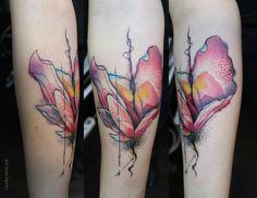 Watercolor Flower (Custom Desing by Matkap Tattoo Istanbul Kadikoy