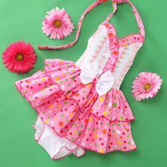 White & Pink Ruffle Halter Dress & Diaper Cover - Infant  Lele for Kids #zulily