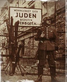 Entrance to the Jewish ghetto in Varsovie, WWII
