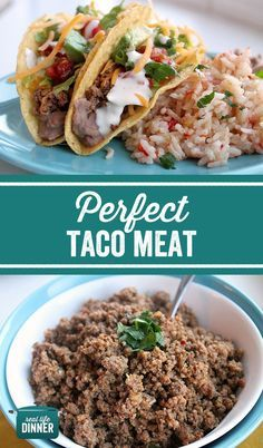 Taco Night made easy! This Perfect Taco Meat is made without a packet and is ready in 20 minutes tops. Easy kid friendly dinner that will make Taco Tuesday awesome! ~ http://reallifedinner.com
