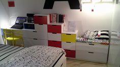 Combinazione Di Cassettiere Modulari Ikea Nordli Impilabili Per Unu0027altezza  Massima Di 145 Cm,