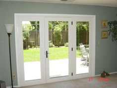 Triple full-view French doors