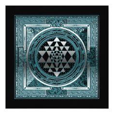 Shop Poster Canvas blue grey geometry symbol india yoga created by readyforyoga. Yoga India, Yoga Symbols, Bring It To Me, Sri Yantra, Silver Pillows, Black Yoga, Cosmos, Chakra, Wealth