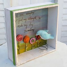 Flower Garden and Blue Bird Shadow Box at etsy.com for $61.00
