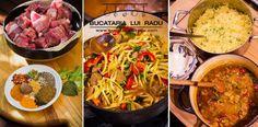Curry de miel cu ceapa si ardei, orez basmati cu mazare si chimion. Curry, Carnitas, Sheet Pan, Cocoa, Grilling, Pasta, Direct Sales, Ethnic Recipes, Catalog