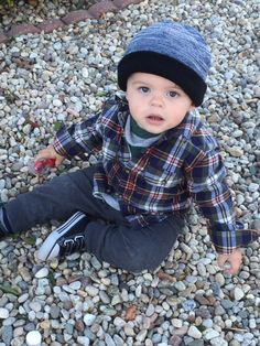 I love winter because I get to dress my kiddo in cute hats and flannels. :) -Nikki