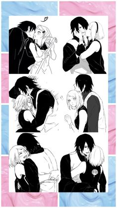 Immagine di blue, pastel, and sasusaku