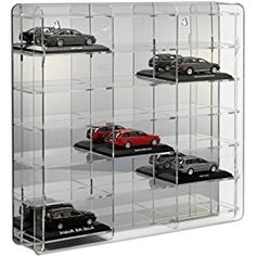 SORA Model Car Display Case with mirrored back-panel Wall Display Cabinet, Display Cabinets, Man Cave Items, Man Cave Accessories, Miniature Cars, Acrylic Display, Elements Of Style, Small Cars, Entertainment Room
