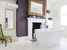 Deep Purple Accented Bathroom