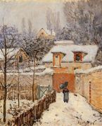 Snow at Louveciennes I - Alfred Sisley - www.alfredsisley.org