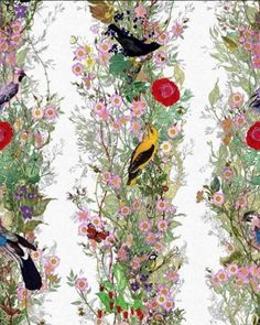 "Colleen Bashaw Design // Timorous Beasties ""Fruit Looters"" wallcovering ✨ Favorite"