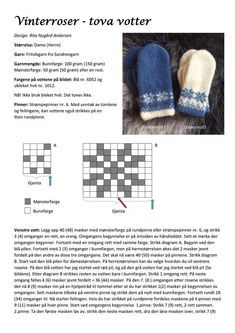 Ravelry: Purchase from Store: Rita Nygård Andersen Designs Knitted Mittens Pattern, Knit Mittens, Mitten Gloves, Knitting Charts, Free Knitting, Knitting Patterns, Crochet Baby, Knit Crochet, Crochet Pattern