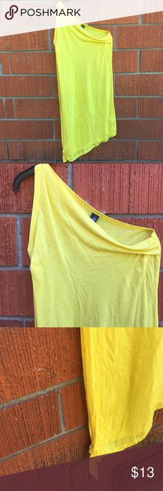 Bright yellow one sleeve dress NWOT Good condition Cheap Monday Dresses One Shoulder