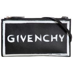 Givenchy Women Painted Logo Leather Crossbody Bag ($815) ❤ liked on Polyvore featuring bags, handbags, shoulder bags, black, leather crossbody, leather crossbody purse, leather shoulder handbags, leather cross body purse and givenchy shoulder bag