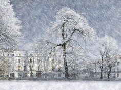 Blizzard, Clarendon Square, Leamington Spa. Giclee Print. Architecture. Realism. in Art, Prints, Contemporary (1980-Now) | eBay