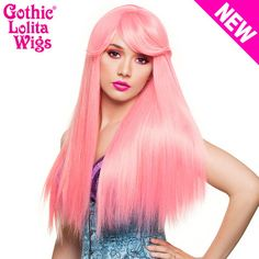 Gothic Lolita Wigs®  Bella™ Collection - Bubble Gum Pink (Deep Pink Mix) -  #longhair #wig #hairstyle #straighthair #straightwig #pretty #cute #natural #style #fashion #nice #coolhair #beautiful #longhairdontcare #rapunzel #dailywig #dailystyle #GLW #gothiclolitawigs #dolluxe #IAMDOLLUXE
