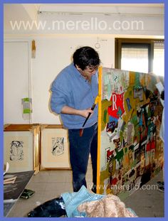 S T U D I O.  Jose Manuel Merello.- Painting.   MODERN ART. http://www.merello.com