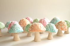 Chocolate Filled Toadstools 7 Pastel / as by andiespecialtysweets, #easter #cutefood