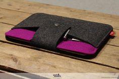 iPad AIR case cover sleeve 100% Merino wool felt by packandsmooch