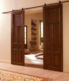 1000 images about herrajes puertas correderas rusticos on for Construir puerta corredera
