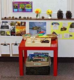 so much learning takes place in the preschool science center