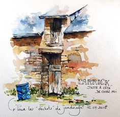 BB-Aquarelle: Encore chez les voisins / At the neighbour's again...