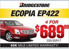 Bridgestone Ecopia EP422 - 4 for $689.99
