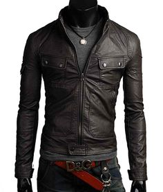 Men leather jacket, men brown leather jacket, men slim fit short jacket sold by Rangoli Collection. Shop more products from Rangoli Collection on Storenvy, the home of independent small businesses all over the world. Brown Leather Jacket Men, Leather Blazer, Black Leather Belt, Leather Men, Biker Leather, Cowhide Leather, Motorcycle Leather, Real Leather, Yamaha V Max