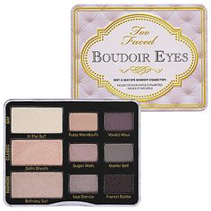 Give yourself a #Beauty #Valentine - Too Faced Boudoir Eyes Soft & Sexy Eye Shadow Collection. #Sephora
