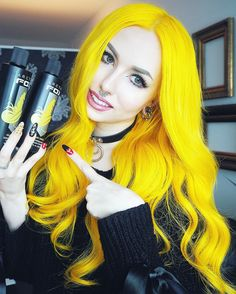 Arctic Fox Cosmic Sunshine Mixed With Neon Moon - Yellow Hair
