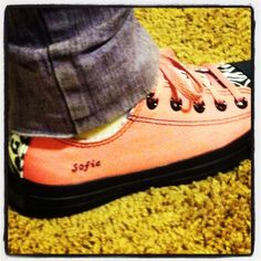 Awesome Converse shoes my daughter designed.