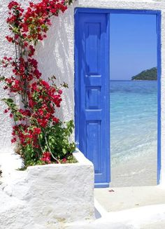 Greek door - I want this view