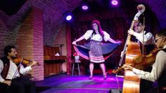 Burlesque dance with slovak folklore act