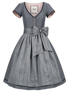 """Gray Dirndl with arms """"Miri Black Lavender"""" from CocoVero buy online ✓Vansand Free ✓ Large selection of dirndls. Folk Fashion, Girl Fashion, Fashion Outfits, Fashion Looks, Vintage Dresses, Vintage Outfits, Victorian Coat, Traditional African Clothing, Dirndl Dress"""