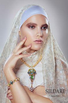 """SILDARE "" jewellery Collection Florence. www.sildare.com Photography: Natalie Berezina. Style: Anita Altmane. Make up: Dita Grauda. Model: Inese Suslova@2bmodels ."