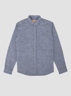 One Pocket Shirt Blue Nubs