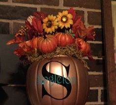 happy fall y all pumpkin topiary, gardening, The top floral arrangment