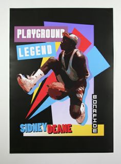Sereis of sports posters inspired by pop culture, featuring iconic athletes and creative design composition. Sports Art, Sports Posters, 90s Pop Culture, Pumpkin Seed Butter, Free Printable Flash Cards, Memory Games For Kids, Basketball, Composition Design, Poster Series