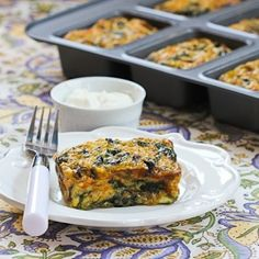 Swiss Chard and Mushroom Squares Recipe (Low-Carb, Vegetarian, Can Be Gluten Free) | Kalyn's Kitchen®