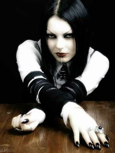 #Goth girl with great expression. Subtle, yet telling