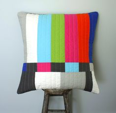 Graphic Throw Pillow - Testing...Testing. $58.00, via Etsy.
