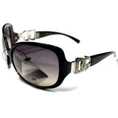 DG25 Style 6 DG Eyewear Elegant Vintage Women's Sunglasses with Protective Soft Pouch - Oversized Lens - DG Eyewear. $16.95