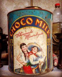 """""""CHOCO MILK"""" Lata chocolate 40's de laboratorios Picot"""