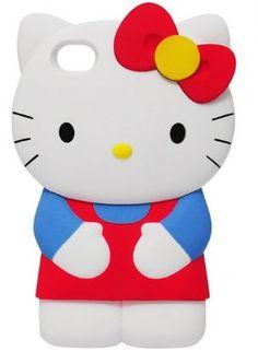 Capa Silicone 3D - Hello Kitty iPhone 4 4S - Para mais informações clique na imagem :)