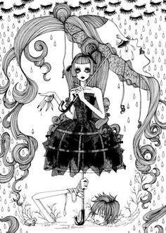 Lolita girl Fine Liner illustration