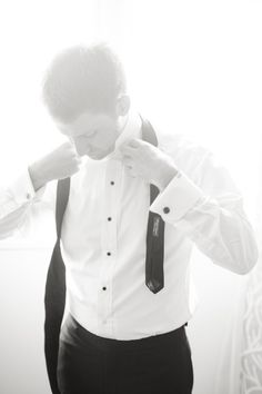 Looking for wedding photo inspiration? Here's a fun shot of the groom getting ready. Wedding Photography Poses, Wedding Poses, Wedding Photoshoot, Wedding Groom, Wedding Day, Photoshoot Images, Wedding Tuxedos, Wedding Dresses, Bride Groom