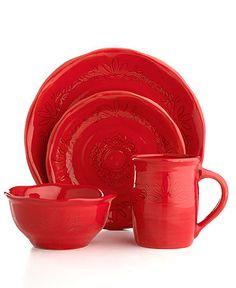 Espana Dinnerware Antica Red Collection