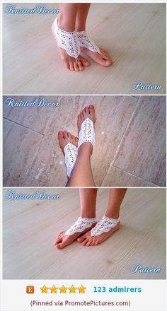 9 Super Comfortable DIY Sandals for Chic Womens Barefoot Sandals Tutorial, Crochet Barefoot Sandals, Diy Leather Sandals, Boho Crochet Patterns, Footless Sandals, Tutorial Crochet, Glitter Shoes, Boho Diy, Bare Foot Sandals